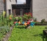 Le nostre girandole nel giardino di Dorina a Pesariis